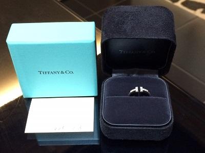 ティファニー Tワイヤーダイヤモンドリング  750WG 2.7g
