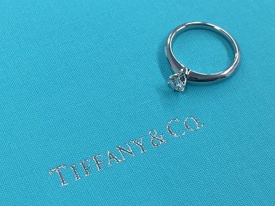 ティファニー TIFFANY&CO ソリテールリング 0.28ct ダイヤモンド Pt950 プラチナ