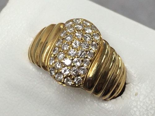 指輪 リング K18 750 メレダイヤモンド 0.7ct 買取 貴金属
