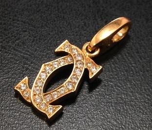 Cartier カルティエ 2Cチャーム ブランドジュエリー 買取 質屋 福岡 天神 博多
