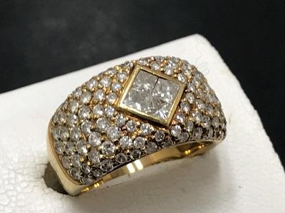 メレダイヤモンド 2.03ct リング K18 金 宝石 高価買取 七条店