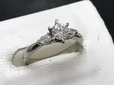 ダイヤモンド 0.31ct メレダイヤモンド 0.14ct リング Pt900 プラチナ 宝石 高価買取 出張買取