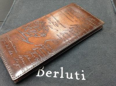 Berluti ベルルッティ カリグラフィ 二つ折り長財布 未使用 高価買取 七条店