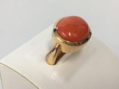 サンゴ 珊瑚 指輪 K18 6.0g 骨董品 宝石 宅配買取 マルカ