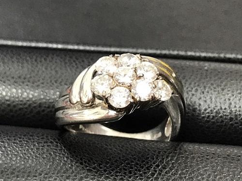 ダイヤモンド デザインリング買取 Pt900/K18 1.00ct