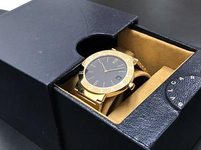 BVLGARI ブルガリ ブルガリブルガリ メンズBB33GGD 金無垢 腕時計 高価買取 七条店