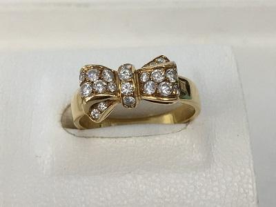 ヴァンクリーフ&アーペル(Van Cleef&Arpels) リボンダイヤリング 750 4.4g 宅配買取 ブランドジュエリー