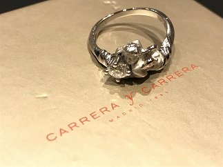 Carrera y Carrera カレラ イ カレラ リング ダイヤモンド ホワイトゴールド ブランドジュエリー買取 福岡天神 博多 質屋