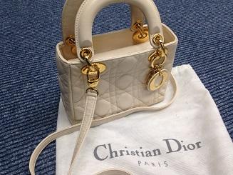 Christian Dior クリスチャンディオール ミニレディディオール ラムスキン ベージュ ブランドバッグ買取 質屋 福岡 天神 博多