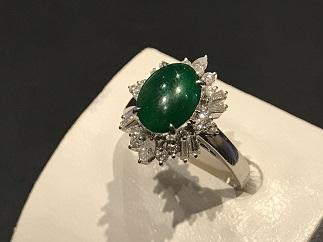 翡翠 ダイヤモンド 指輪 プラチナ 宝石買取 福岡 天神 博多 質屋