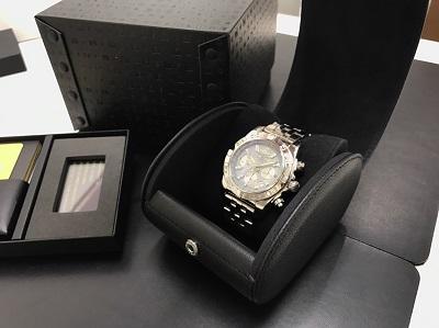 BREITLING ブライトリング クロノマット44 グレーパールダイヤモンド シェル文字盤 腕時計 美品 高価買取 七条店