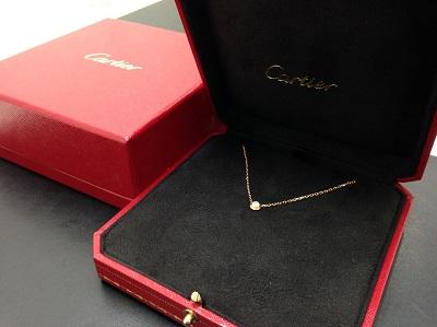 Cartier カルティエ ディアマンレジェドゥカルティエ ネックレス 750PG ピンクゴールド 1PD 高価買取 七条店