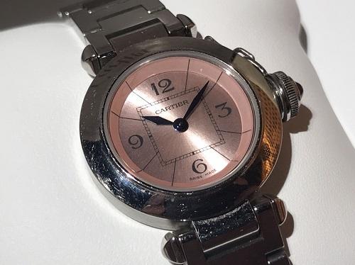 カルティエ Cartier ミスパシャ W3140008 SS ピンク文字盤