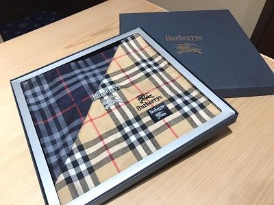 バーバリー( BURBERRY)ハンカチ二枚セットチェック ブランド 小物 買取 渋谷