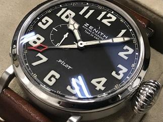 ZENITH ゼニス パイロット アエロネフ タイプ20 GMT 時計買取 福岡天神 博多 質屋