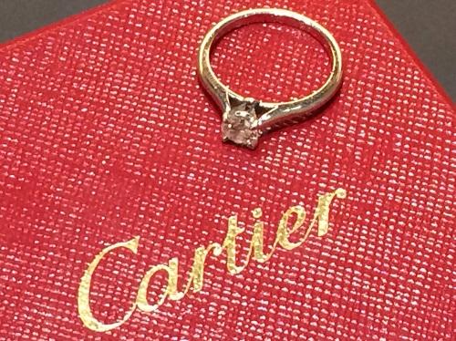 カルティエ Cartier ソリテールリング 0.35 Pt950 プラチナ ダイヤモンド