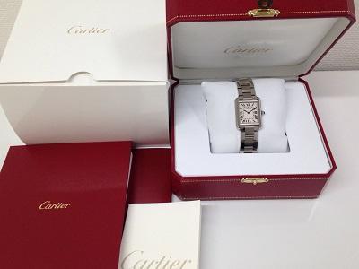 カルティエ(Cartier) タンクソロSM W5200013 白文字盤 SS 保証書有 出張買取