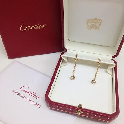 カルティエ(Cartier) ベビートリニティダイヤピアス 750 5.3g 保証書有 北山 買取