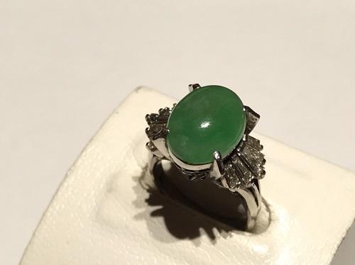 指輪 リング 翡翠 Pt850 宝石