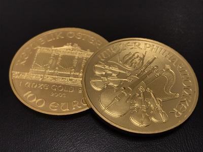 K24 純金 オーストリア ウィーン金貨 1OZ 2枚 金 地金 高価買取 七条店