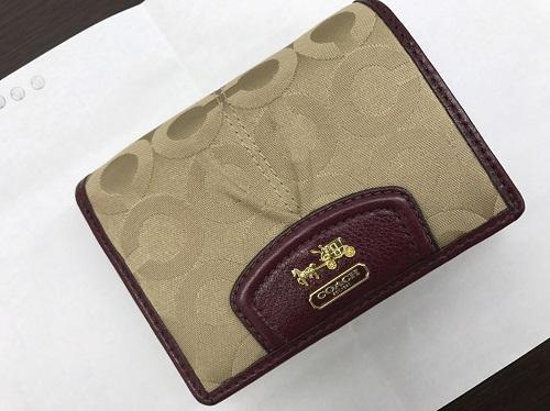 コーチ(COACH) 財布 キャンバス ベージュ 北山 買取