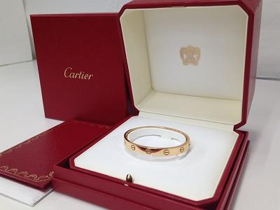 Cartier カルティエ ラブブレス 750PG ピンクゴールド 美品 高価買取 七条店