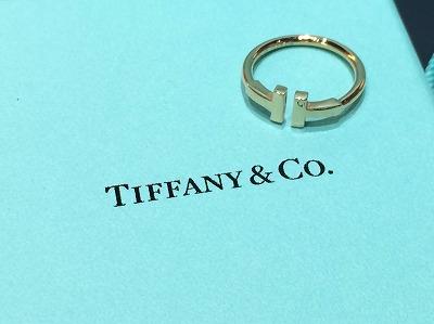 ティファニー TIFFANY&CO Tワイヤーリング 750 イエローゴールド 買取 渋谷