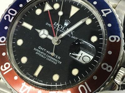 ロレックス GMTマスター Ref.16750フチ有 アンティークロレックス高価買取