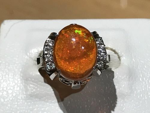 指輪 リング ジュエリー 宝石 オパール OPAL メキシコオパール ファイアオパール