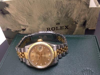 ロレックス(ROLEX) デイトジャスト 16233G X番 シャンパン文字盤 保証書無 神戸三宮 買取