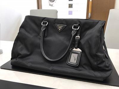PRADA プラダ トートバッグ ナイロン × レザー 黒 中古 高価買取 出張買取
