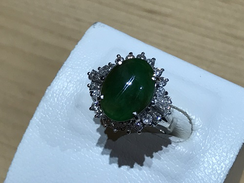 ヒスイ(翡翠 JADE)指輪 リング 宝石 ダイヤモンド(DIAMOND)ジュエリー