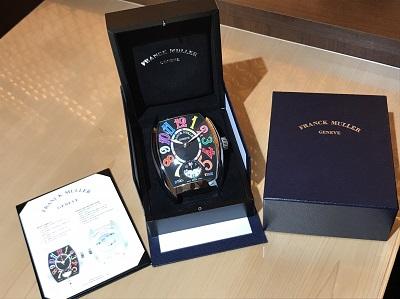 FRANCK MULLER(フランクミュラー)デュアルタイム  置時計 高価 買取 東京 渋谷