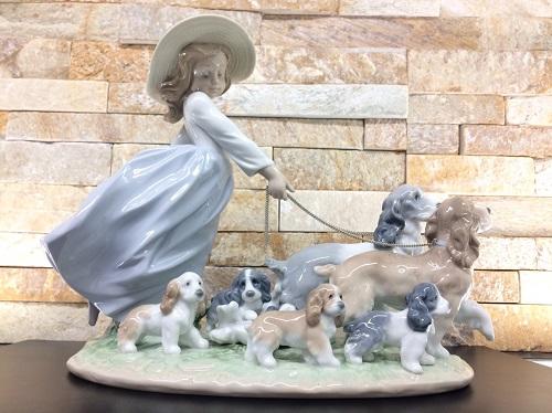 リアドロ(LIadro)犬と少女 陶器人形 置物 未使用品 美術品 北山店 お買取り品 左京区 北区