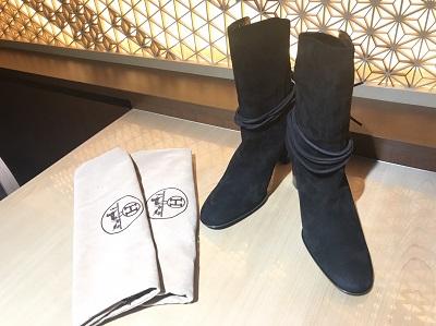 HERMES(エルメス)スウェード ブーツ ブラック美品 高価 買取