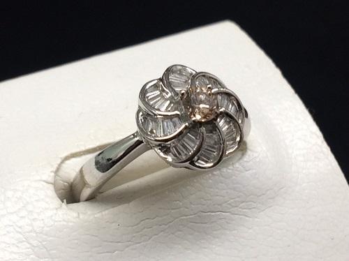 ダイヤモンドリング K18WG 石目無し 2.7g 貴金属 宝石 出張買取