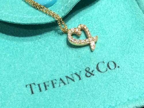 ティファニー TIFFANY&CO ラビングハートダイヤネックレス 750 買取 渋谷