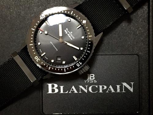 ブランパン フィフティファゾムス バチスカーフ  新古品 時計