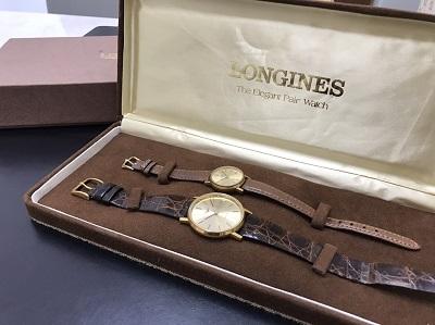 LONGINES ロンジン ペアウォッチ GP × 革 美品 クォーツ 腕時計 高価買取 出張買取