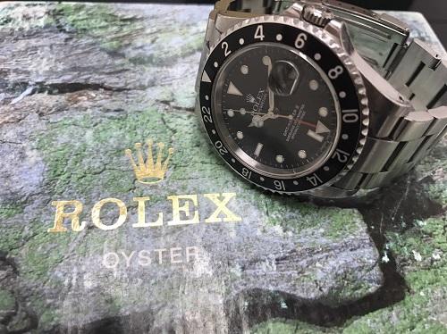 ロレックス(ROLEX) GMTマスターⅡ 16710 Y番 保証書無 神戸三宮 買取