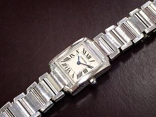 Cartier カルティエ タンクフランセーズSM  時計買取 質屋 高い 福岡 天神 博多