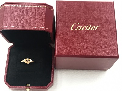 カルティエ(Cartier) Cハートリング 1Pピンクサファイア 750YG #49 カルティエ買取 三宮 元町 神戸
