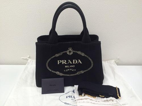 プラダ PRADA カナパ キャンバス ブラック B2439G