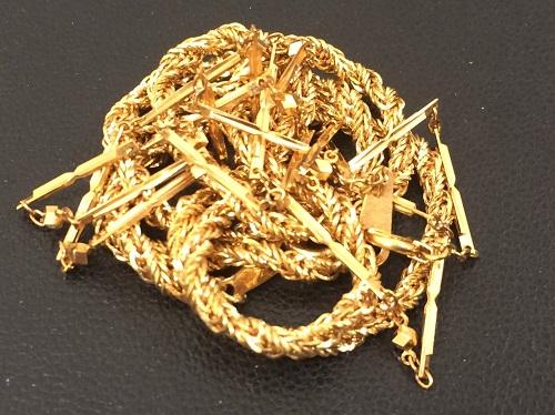 金 K18 750 ネックレス 14.3g ゴールド 高価買取