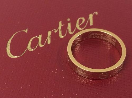 カルティエ cartier ラブリング 750 ピンクゴールド 買取 銀座 東京