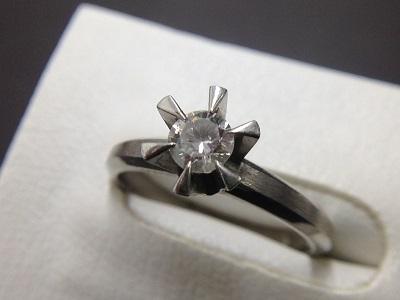 ダイヤモンドリング Pt900 0.25ct 3.1g 貴金属 宝石 北山 買取
