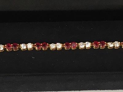 ヴァンクリーフ&アーペル(VanCleef&Arpeles) ダイヤモンド ルビー ブレスレット 750YG ヴァンクリーフ買取