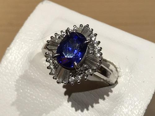 サファイア(SAPPHIRE) 指輪 リング プラチナ Pt900 ダイヤモンド(DIAMOND)ジュエリー 宝石