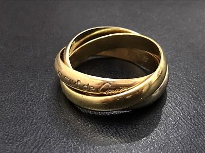 Cartier カルティエ トリニティリング 750 3カラー ゴールド ジュエリー 高価買取 七条店