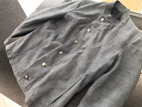 ルイヴィトン(LOUIS VUITTON)メンズジャケット ブルゾン パイソン 蛇革 中古美品